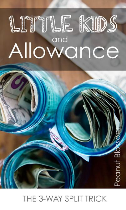 Kids + Allowance: The 3-Way Split Trick *Love the Monday thing too...