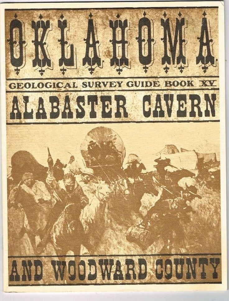 Oklahoma Alabaster Cavern Woodward County Geological Survey Guide Book 1981