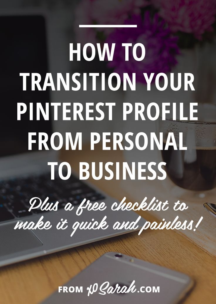 If you're just pinning personal stuff or using Pinterest mostly as a tool for procrastination (yeah I know what you're up to!) you're likely only skimming the surface of what Pinterest could do for you. And you're probably missing out on a massive amount of traffic that could turn into readers, subscribers, customers, and clients! Click through for the 7 steps to go from personal to business on Pinterest.