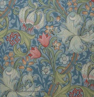 Golden Lily tapeter från William Morris® (WM124-03) hos Engelska Tapetmagasinet. ✓ Beställ fraktfritt online ✓ Snabb leverans
