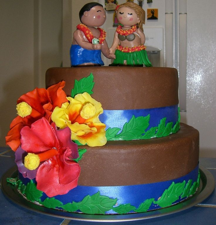 Luau Themed Cake Ideas 17 Best Images About To Use For Reception On Pinterest