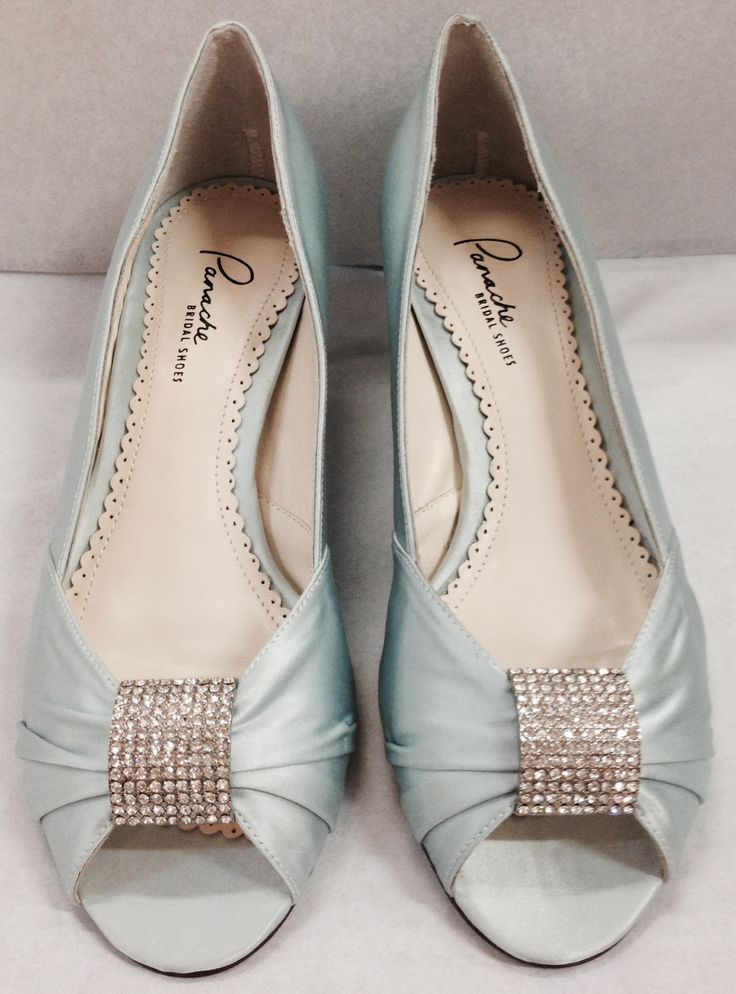 New 2015 AMY In Pale Blue Silk Bridal Shoes Blue Shoes Bridesmaid Shoes L