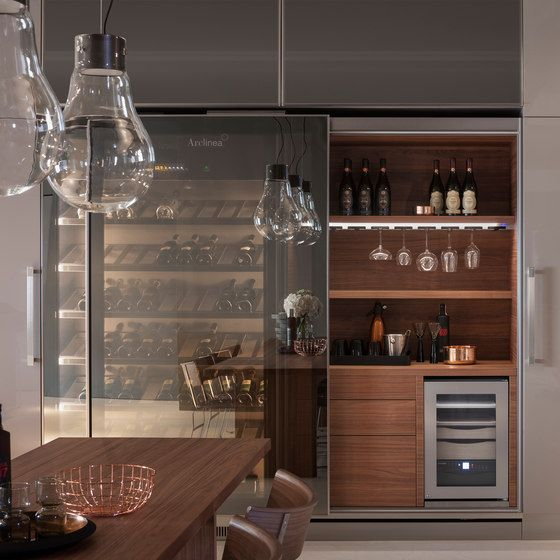 The Arclinea Vina Epicure Beautifully Displays Your Wine