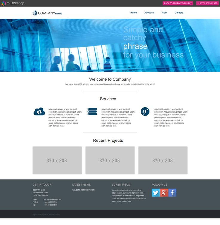 Check out our Company template. It's responsive, light and userfriendly. Just perfect for any business. #responsive #userfriendly #webdesign #webdevelopment