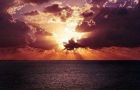 Horizon, Hemel, Zonsondergang, Oceaan