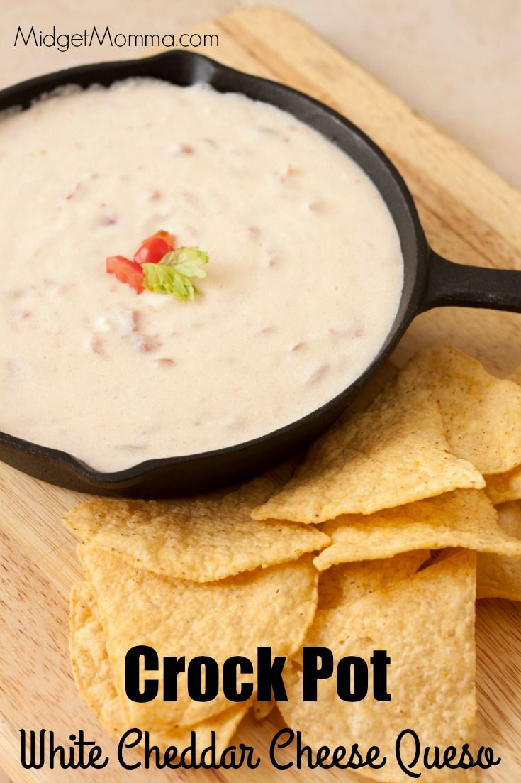 Make this amazing Crock Pot White Cheddar Cheese Queso right in your crockpot. Easy to make and stays warm for your party!