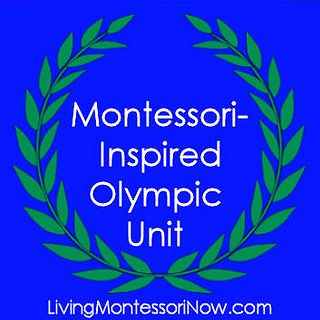 Roundup post with lots of Montessori-inspired Olympic activities. There's also a link to my Olympic Unit Studies Pinterest Board, which has TONS of Olympic activities of all types and for all ages!