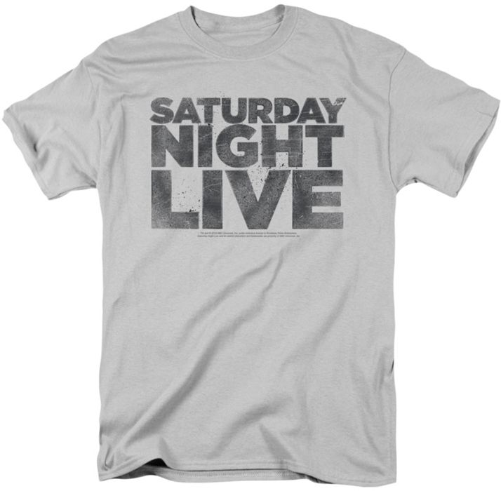 Urban Collector presents the Saturday Night Live SNL Distressed Logo mens t-shirt.  Any Saturday Night Live SNL fan will love this awesome silver t-shirt with a cool Saturday Night Live SNL graphic.  Represent one of your favorite licenses by showing off this Saturday Night Live SNL t-shirt with pride. Gender: men Style: t-shirtAge: adultBase Color: silverSaturday Night Live SNL Distressed Logo mens t-shirt.  Secure your new item by ordering today.