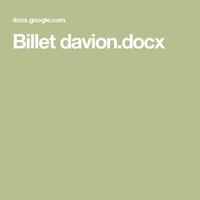 Billet davion.docx