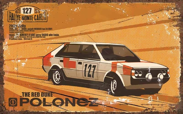Polonez 'Red Duke', Polish rally car from 70's