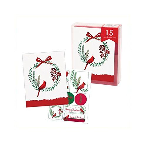 The Gift Wrap Company 79893 Boxed Holiday Christmas Cards Simple