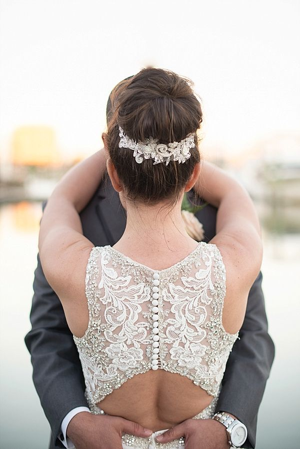 Lace wedding dress with keyhole back   Maria Grace Photography on @tidewatertulle via @aislesociety