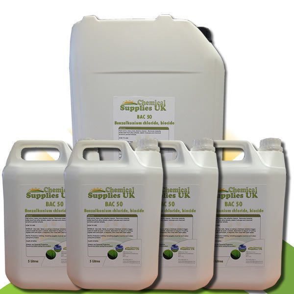 Benzalkonium Chloride, BAC50, rapid acting algaecide, bactericide and fungicide.