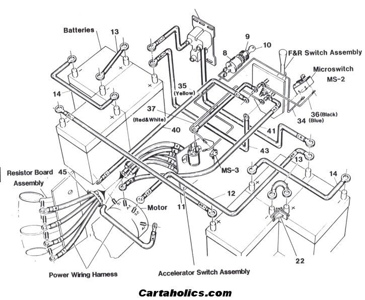 wiring diagram for 48 volt yamaha golf cart wiring diagram for 1994 ez go golf cart cartaholics golf cart forum -> wiring diagram | crafts ...