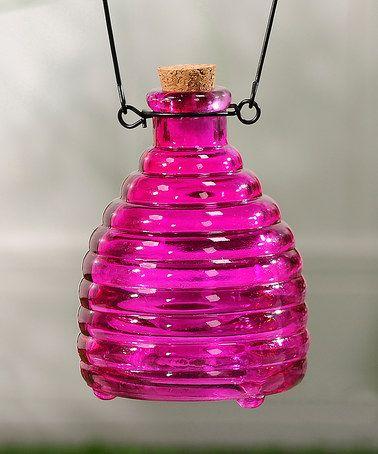 Another great find on #zulily! Pink Glass Bee Catcher Jar #zulilyfinds
