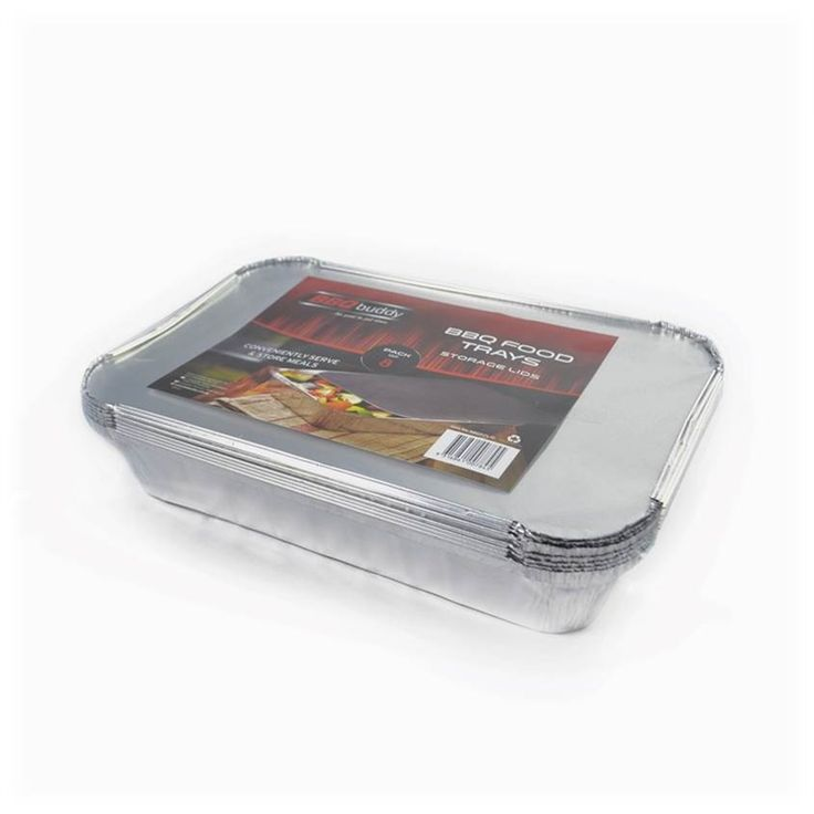 BBQ Buddy Large Foil Tray with Lid - 8 Pack