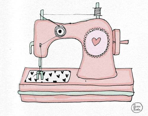237 best images about sewing machines illustrations on - Dessin machine a coudre ...