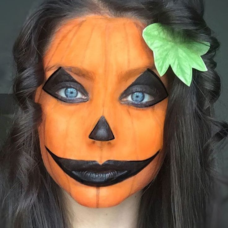 Best 25+ Pumpkin Face Paint Ideas On Pinterest | DIY Halloween Face Paint Half Face Halloween ...