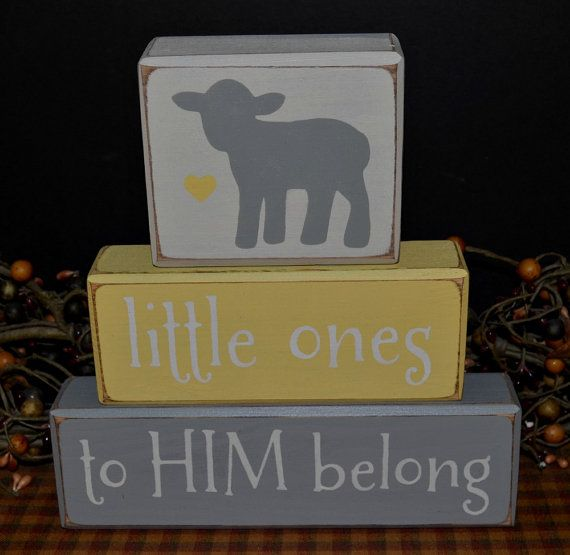 Little Ones to HIM Belong Nursery Lamb by PrimitiveHodgePodge