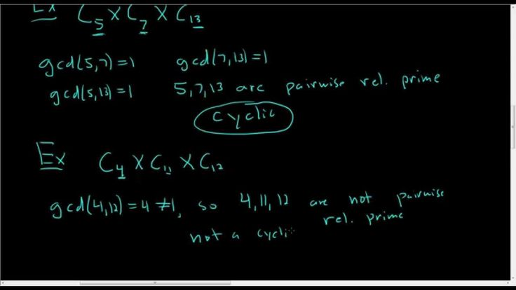 Direct Products of Finite Cyclic Groups Video 1