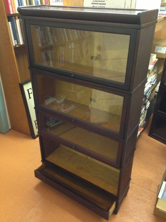 Antique Mahogany Barrister Bookcase By Hale Fixed Price 550