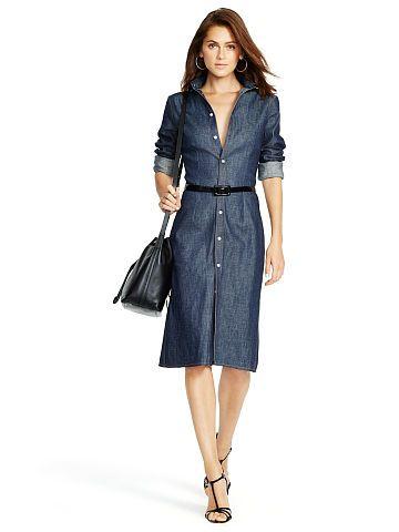 Polo Ralph Lauren Robe-chemise denim à col boutonné - Polo Ralph Lauren Robes mi-longues - Ralph Lauren France