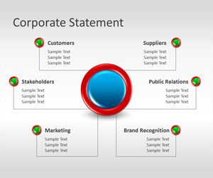Corporate Statement PowerPoint Template is a free PowerPoint template that you can use for business presentations