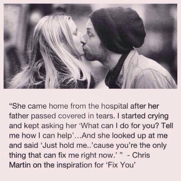 Inspiration for Fix You by Coldplay