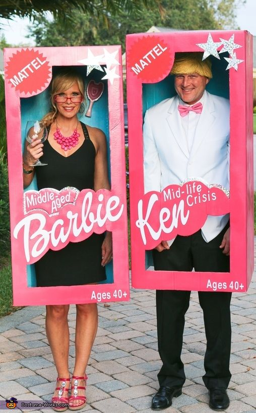 Middle-Aged Barbie and Mid-Life Crisis Ken Costume - Halloween Costume Contest via @costume_works