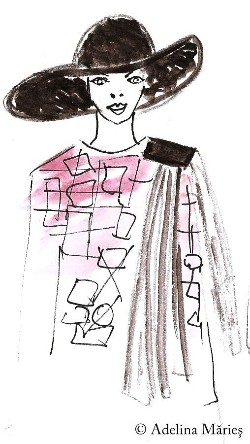fashion illustration Adelina Maries