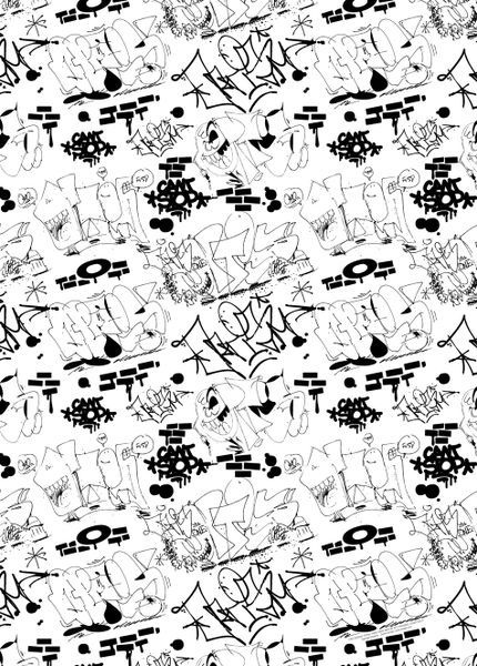 'FVSD-Gaffiti-pattern 01' by Daniel Annbjer on artflakes.com as poster or art print $16.63