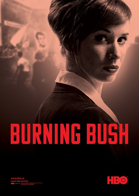HBO Komu Typeface - Burning Bush movie poster. // http://www.hbo-europe.com/burningbush/