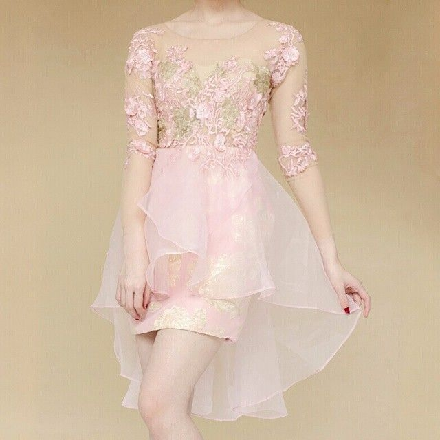 Serena dress in pink gold