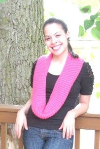 Infinity Scarf Learn step by step how to knit this scarf at www  How To Knit An Infinity Scarf Step By Step