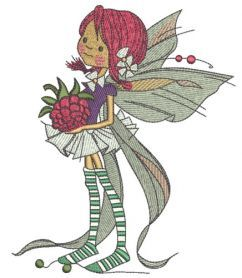 Berry fairy embroidery design