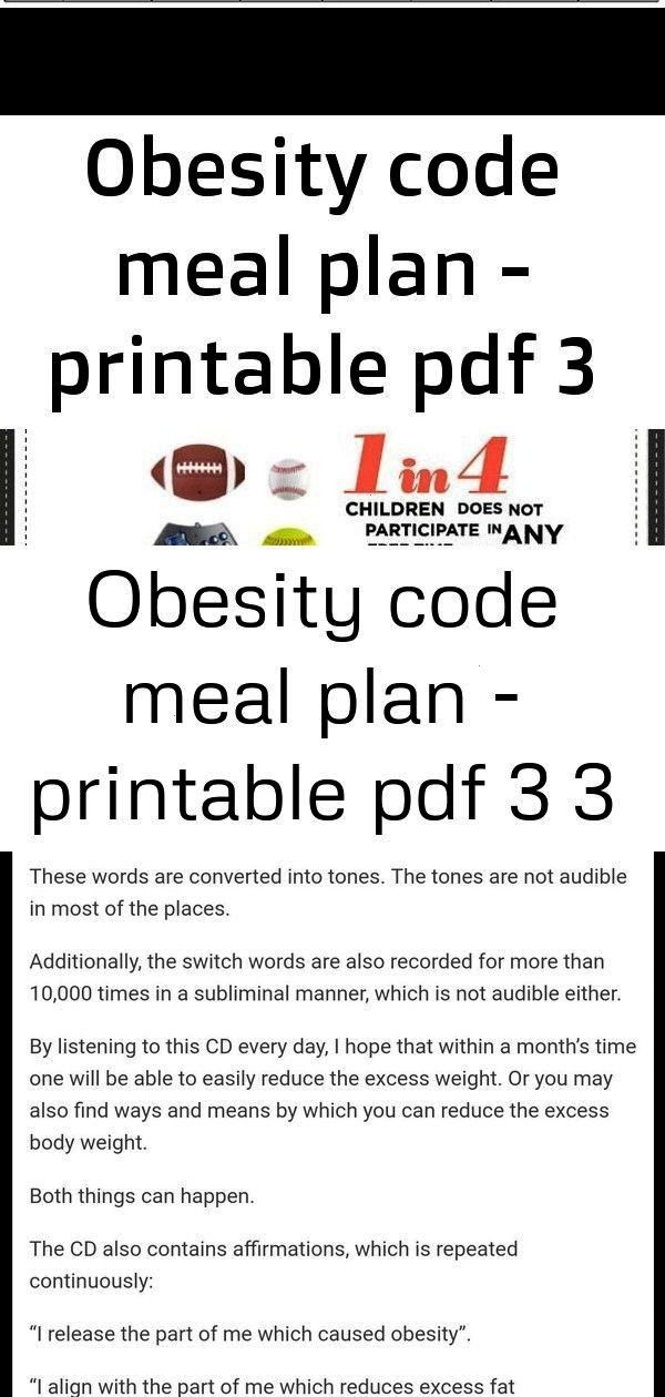 Efficiently Youngsters Printable Naturally Symptoms Bullying Overcome Related Obesity Obese Sign Meal Planning Printable Obesity Planning Printables