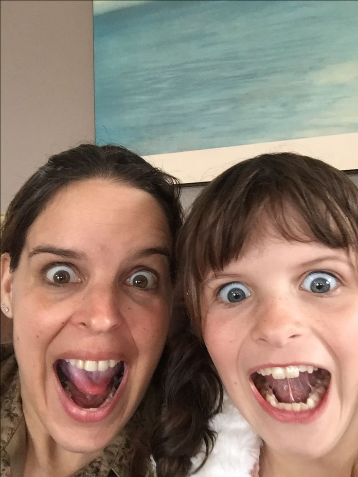Grace & I (crazy faces)