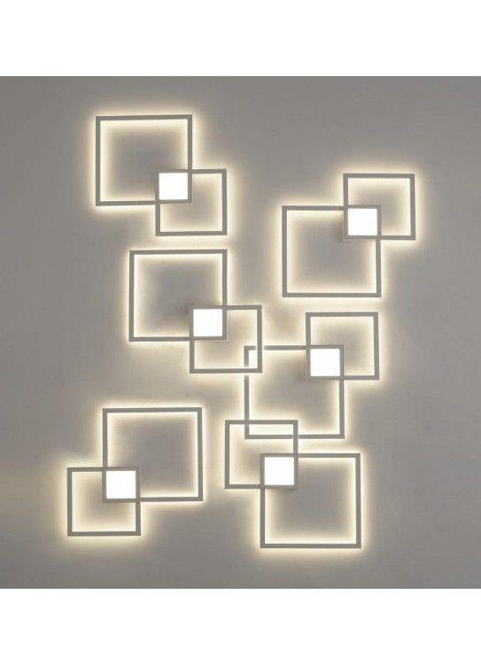 Aplique De Pared Mural Cuadrado Mantra Apliques De Pared Pared En 2020 Apliques De Pared Lamparas De Pared Modernas Iluminacion De Pared