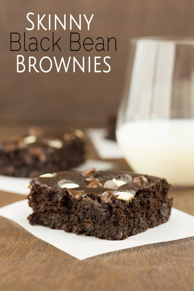 Skinny Black Bean Brownies - I substituted the milk with almond milk, added 1 tsp. vanilla, added 10 drops of dark chocolate liquid stevia extract and used non-dairy chocolate chips, so they are gluten and dairy free