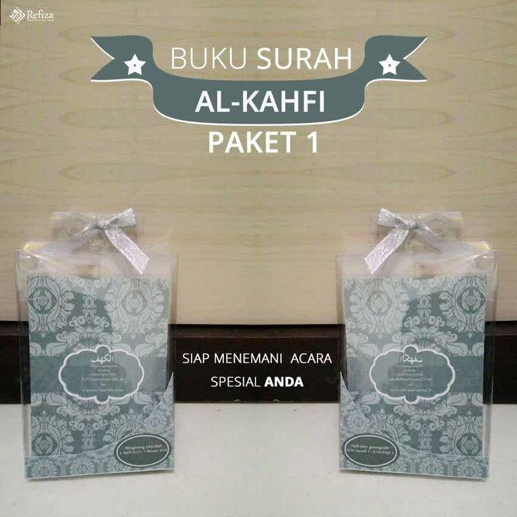 Buku Surat Al-Kahfi Paket 1. Bisa custom motif cover dan halaman.