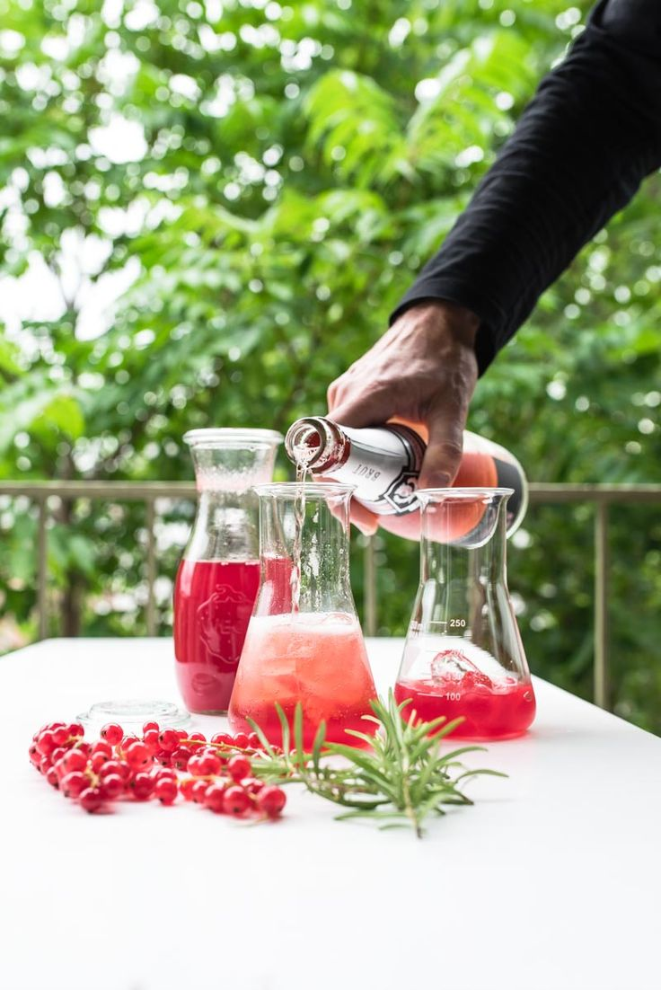 johannisbeer rosmarin sirup proudly presents the tricky kaltgetränk 2016: das sommersektschorle