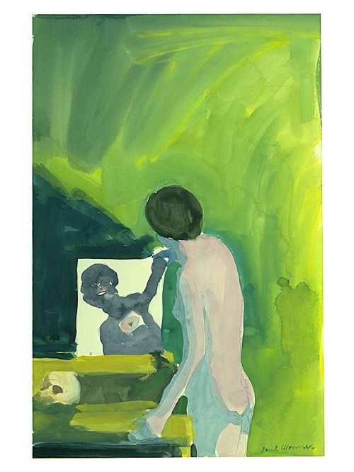 Paul Wonner, Woman with Mirror and Skull, 1961