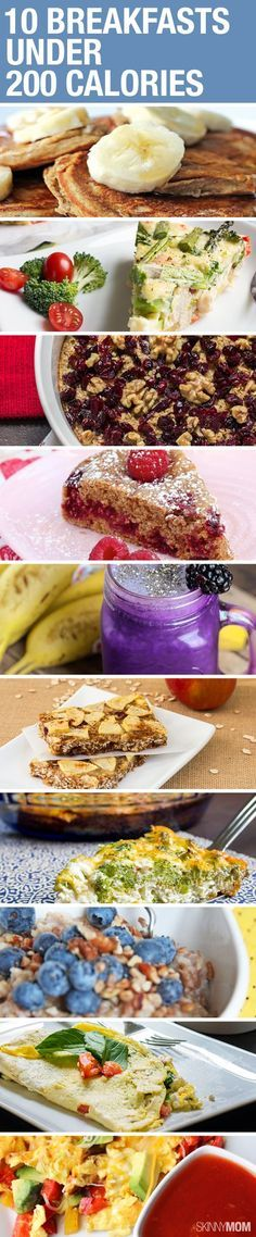 Healthy, easy breakfast ideas your family will love! All recipes under 200 calories!