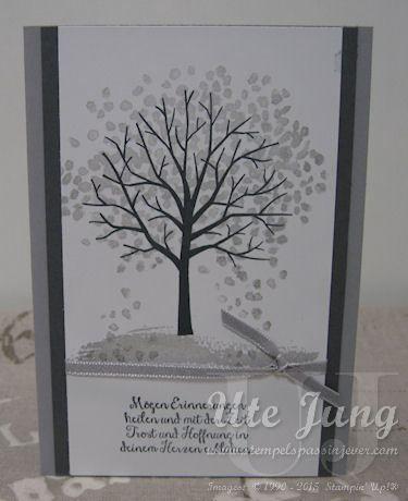 "Trauerkarte mit dem Stampin' Up! Stempelset ""Baum der Freundschaft"""