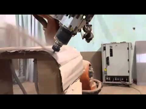 SprutCAM Robot and Kuka for the furnutire cutting: Our partner GD ROBOTICS (KUKA's official system partner) using the SprutCAM Robot for off-line programming Kuka KR210 R2700 with tool changer for the furnutire cutting