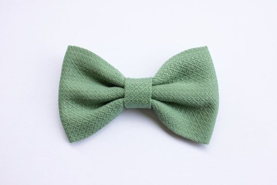 Papillon sage green for men groom wedding bow by ScoccaPapillon