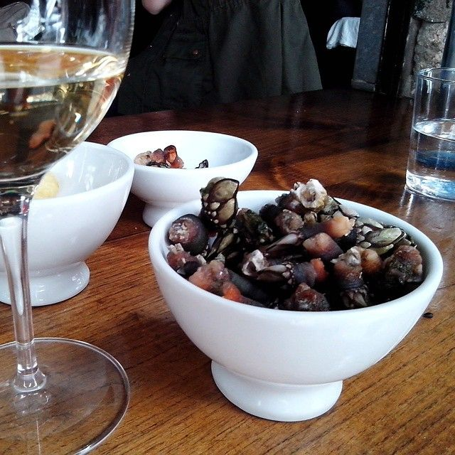 Bowl of percebes (goose barnacles) anyone? #thekilomeaters #santiagofoodexperience