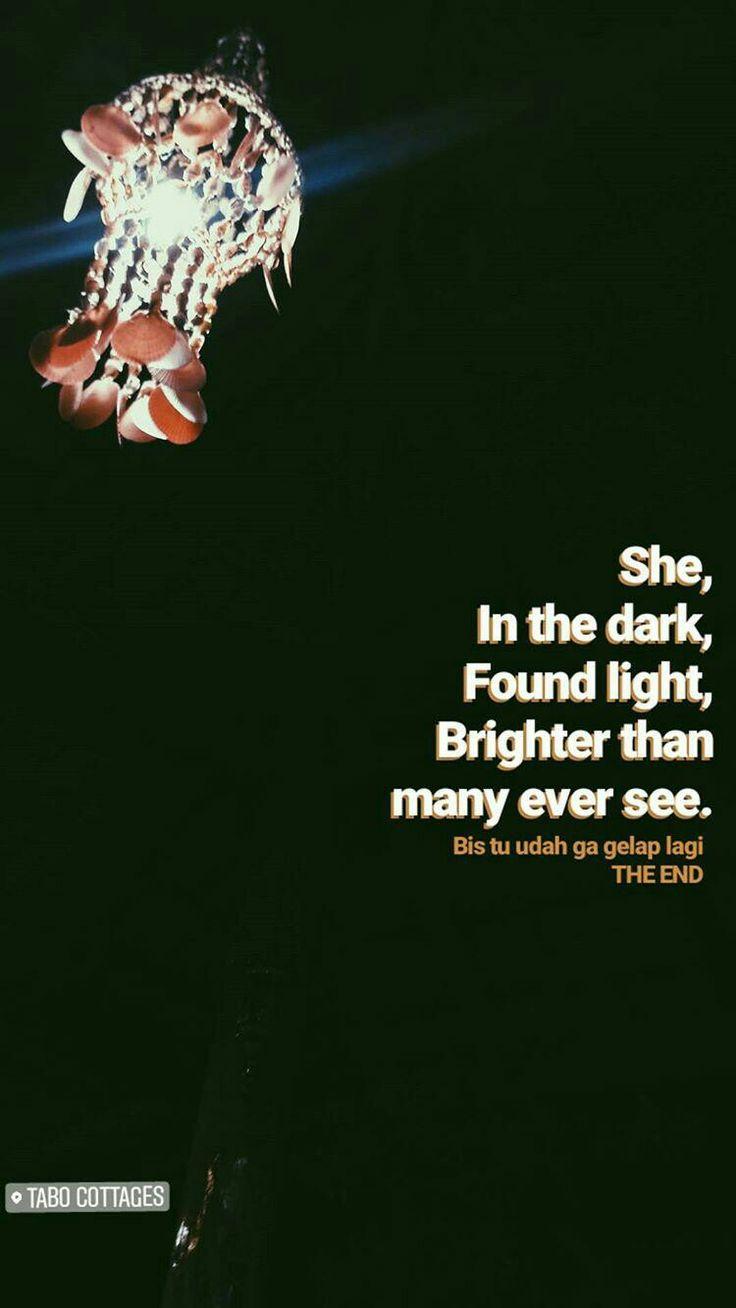 Mati lampu kemudian gelap, nemu cahaya, kemudian terang
