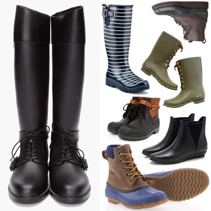 Twelve Pairs of Ladies' Rain Boots