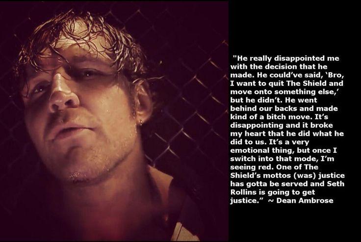 That's So Deep.....#DeanAmbrose .Listen Seth! pic.twitter.com/15HiftnvY1